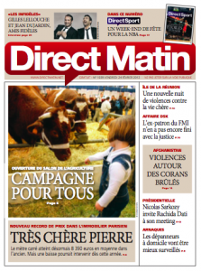 Couverture Direct Matin